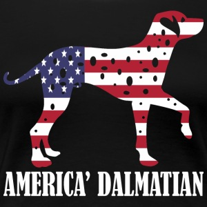 American Dalmatian Dog Flag Memorial Day USA - Women's Premium T-Shirt