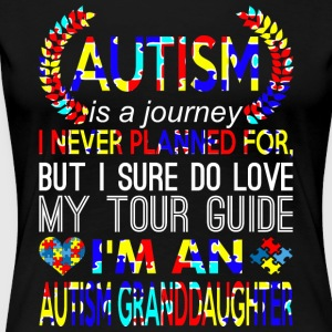 Autism Journey Never Planned Autism Granddaughter - Women's Premium T-Shirt