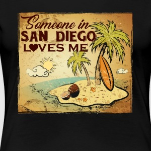 SAN DIEGO LOVES ME ASH GREY SHIRT - Women's Premium T-Shirt
