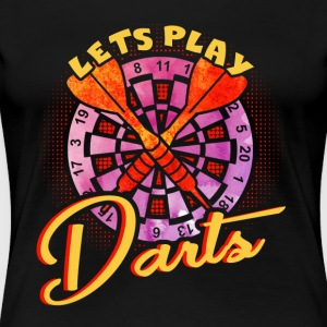 LETS PLAY DARTS SHIRT - Women's Premium T-Shirt
