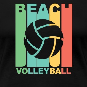 Vintage Beach Volleyball Graphic - Women's Premium T-Shirt