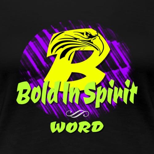 Bold In Spirit with Eagle - Women's Premium T-Shirt