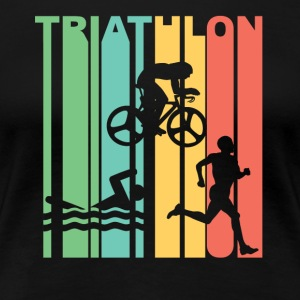 Vintage Triathlon Graphic - Women's Premium T-Shirt