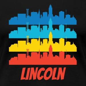 Retro Lincoln NE Skyline Pop Art - Women's Premium T-Shirt