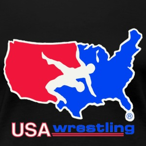 USA WRESTLING LOGO - Women's Premium T-Shirt