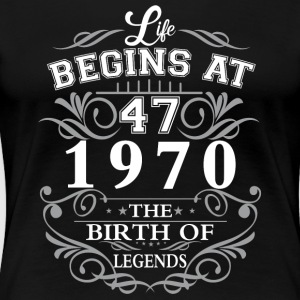 Life begins 42 1970 The birth of legends - Women's Premium T-Shirt