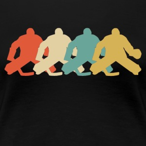 Retro Hockey Goalie Pop Art - Women's Premium T-Shirt