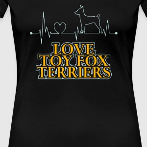 Love TOY FOX TERRIERS dog - Women's Premium T-Shirt