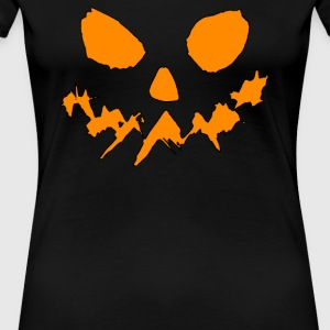 Scary Pumpkin Face Halloween - Women's Premium T-Shirt