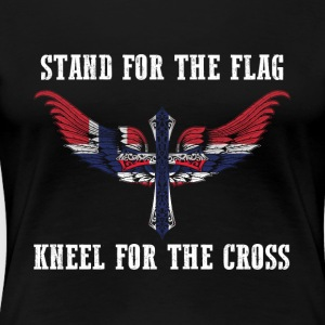 Stand for the flag Norway kneel for the cross - Women's Premium T-Shirt