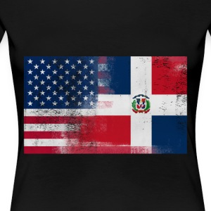 Half Dominican Half American 100% Awesome Dominica - Women's Premium T-Shirt
