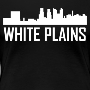 White Plains New York City Skyline - Women's Premium T-Shirt