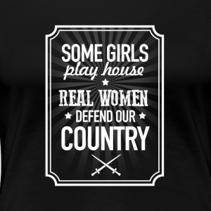 Real Women Defend Our Country - Women's Premium T-Shirt
