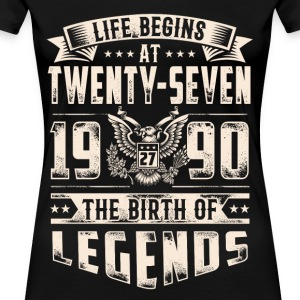 Life Begins at Thirty-Seven Legends 1990 for 2017 - Women's Premium T-Shirt