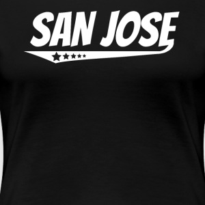 San Jose Retro Comic Book Style Logo - Women's Premium T-Shirt