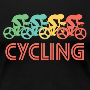 Retro Cycling Pop Art - Women's Premium T-Shirt