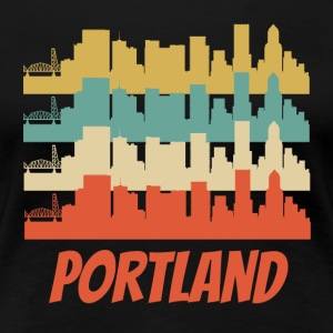 Retro Portland OR Skyline Pop Art - Women's Premium T-Shirt