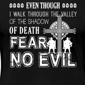 Crusader Fear No Evil Shirt - Women's Premium T-Shirt