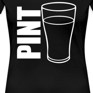 Pint Glass Illustration - Women's Premium T-Shirt