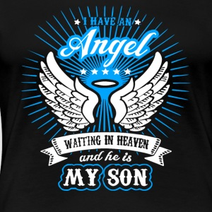 Angel Waiting In Heaven And He Is My Son T Shirt - Women's Premium T-Shirt