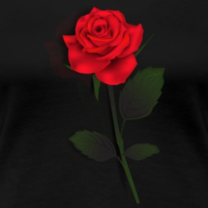 Rose Stem (Black) - Women's Premium T-Shirt