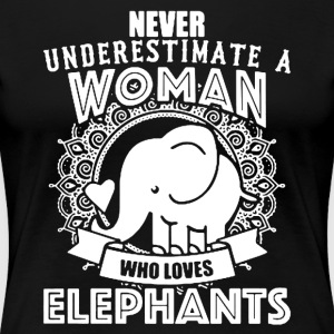 Woman Love Elephant Shirts - Women's Premium T-Shirt