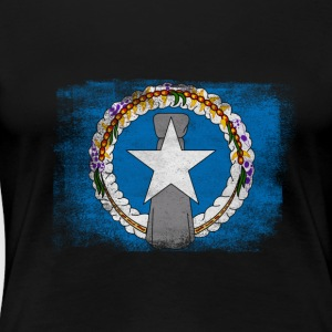Northern Mariana Islands State Flag Distressed Vin - Women's Premium T-Shirt
