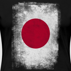Japan Flag Proud Japanese Vintage Distressed - Women's Premium T-Shirt