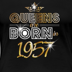 1957 - Birthday - Queen - Gold - EN - Women's Premium T-Shirt