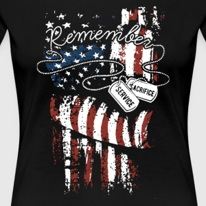 Veterans Day Remember Shirt - Women's Premium T-Shirt