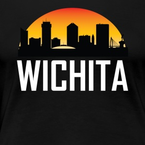 Sunset Skyline Silhouette of Wichita KS - Women's Premium T-Shirt