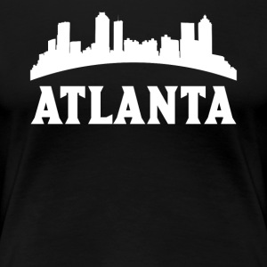 Vintage Style Skyline Of Atlanta GA - Women's Premium T-Shirt