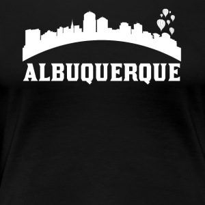 Vintage Style Skyline Of Albuquerque NM - Women's Premium T-Shirt