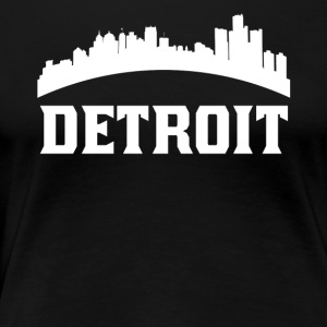Vintage Style Skyline Of Detroit MI - Women's Premium T-Shirt