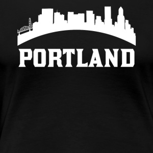 Vintage Style Skyline Of Portland OR - Women's Premium T-Shirt