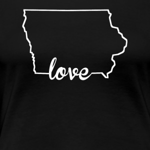 Iowa Love State Outline - Women's Premium T-Shirt