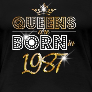 1987 - Birthday - Queen - Gold - EN - Women's Premium T-Shirt