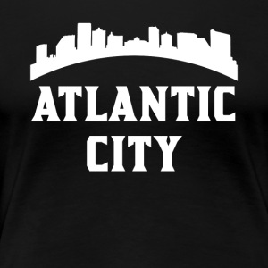 Vintage Style Skyline Of Atlantic City NJ - Women's Premium T-Shirt