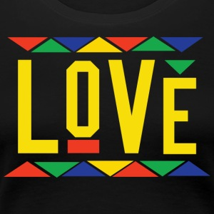 Love - Tribal Design (Yellow Letters) - Women's Premium T-Shirt