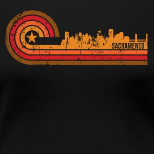 Retro Style Sacramento California Skyline - Women's Premium T-Shirt