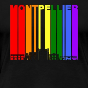 Montpellier France Skyline Rainbow LGBT Gay Pride - Women's Premium T-Shirt