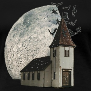 House with moon - Women's Premium T-Shirt