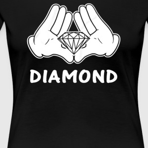 mickey hands diamond - Women's Premium T-Shirt