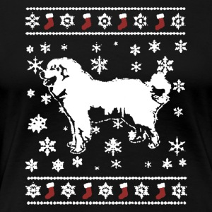 Great Pyrenees Ugly Sweater - Women's Premium T-Shirt