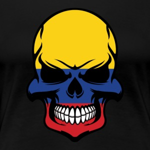 Colombian Flag Skull Cool Colombia Skull - Women's Premium T-Shirt