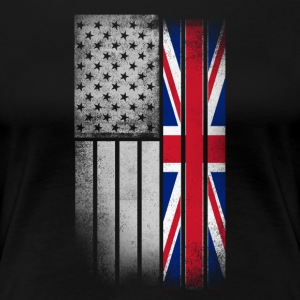 British American Flag - Women's Premium T-Shirt