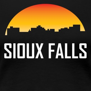 Sioux Falls South Dakota Sunset Skyline - Women's Premium T-Shirt