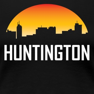 Huntington West Virginia Sunset Skyline - Women's Premium T-Shirt
