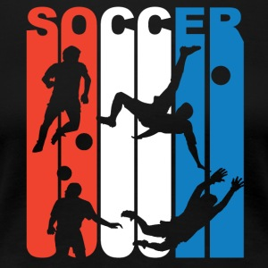 Red White And Blue Soccer - Women's Premium T-Shirt