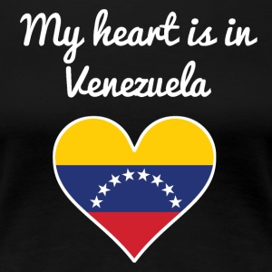 My Heart Is In Venezuela - Women's Premium T-Shirt